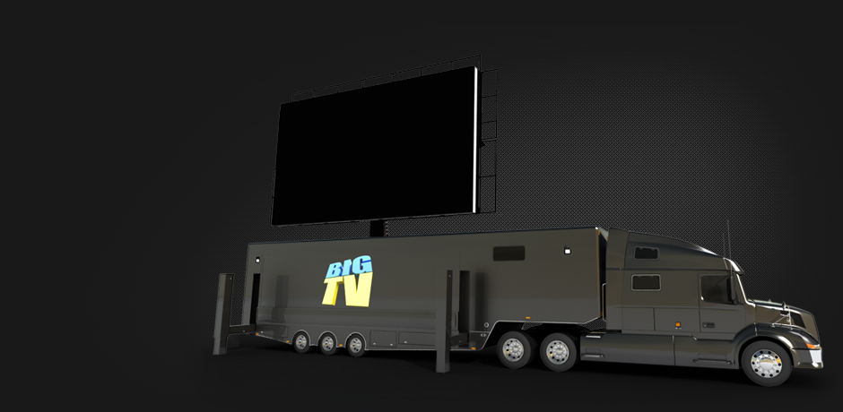 46sqm Outdoor Mobile LED Screen & stage